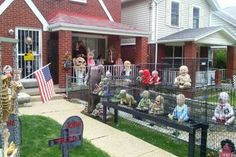 scary babies in cages halloween yard decor