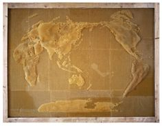 - Honeycomb maps made by bees kept by Ren Ri.
