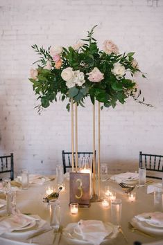 Bottom Plate Gold Modern Rectangular Tall Metal Stand Wedding Centerpiece is part of Pastel wedding For our full selection of items, check out our brand new website! www everygoldendetail com MINIM - Table Decoration Wedding, Wedding Table Centerpieces, Centerpiece Ideas, Tall Flower Centerpieces, Whimsical Wedding Decor, Wedding Top Table Flowers, Gold Table Decor, Bridal Table Decorations, Blush Centerpiece