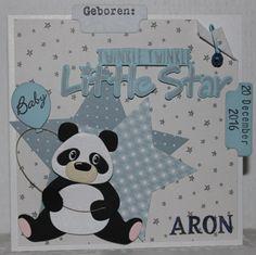 Gemaakt door Joke # Geboren, Aron. Twinkle twinkle little star met Pandabeer