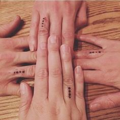 Small but powerful. | 19 Sibling Tattoos For When There's More Than Two Of You