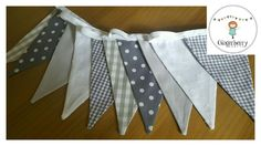 Gingerberry shabby chic bunting shades grey  in Home, Furniture & DIY, Home Decor, Wall Hangings | eBay!