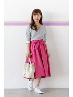 タイプライターベルテッドスカート(フレアスカート)|NATURAL BEAUTY BASIC(ナチュラルビューティーベーシック)|ファッション通販 - ファッションウォーカー
