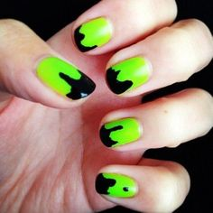 Slime Nail Art #lecitykitty http://lcknyc.com/1fOgd4T