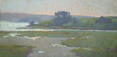 "Jennifer Moses  . Tomales Bay Study .  6x12"" . oil on canvas panel"