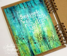 "Art Journaling: ""Walk In The Rain"" Art Journal Page Video Tutorial"
