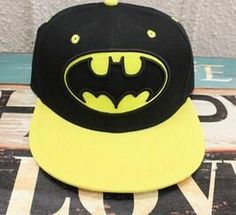 e32318424b9 Hot Movie Batman Cosplay Cap Black yellow Novelty cartoon Batman Begins  ladies dress mans Hat charms Costume Props Baseball cap