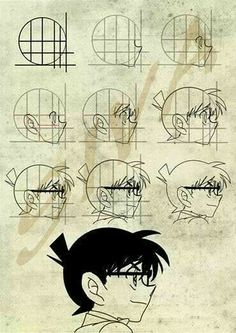 Cách vẽ Conan