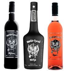 "Motorhead ""Sacrifice"" Shiraz and Rose wines, and Motorhead Swedish vodka."