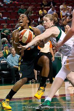Katie Smith, Glory Johnson  Seattle won 101 - 74