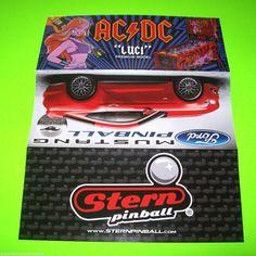 AC/DC LUCI STAR TREK MUSTANG AVENGERS STERN ORIGINAL PINBALL MACHINE SALES FLYER #AC/DC #PinballFlyers.net