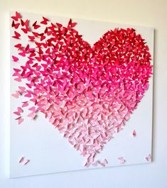 Cuadro corazon de mariposas 3ra dimension