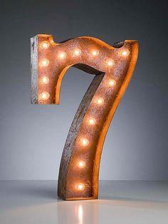 Vintage Marquee Number Lights.