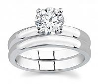 I like the solitaire as an engagement ring, and just the plain wedding band <3