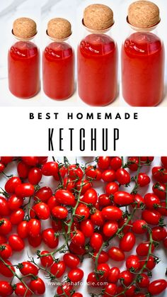 This simple Homemade Ketchup recipe is not only healthier than its store-bought competition, but it is also so much more addictively delicious as you can control the exact amount of sugar, salt and spices added to the sweet tomato blend. Homemade Ketchup Recipes, Homemade Sauce, Sauce Recipes, Tomato Canning Recipes, Roma Tomato Recipes, Garden Tomato Recipes, Homemade Tomato Ketchup, Tomato Ketchup Recipe, Vegan Recipes