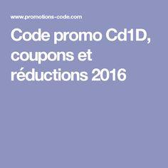 Code promo Cd1D, coupons et réductions 2016
