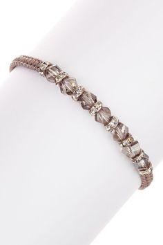 Contempo Crystal Bead & Rondelle Macrame Bracelet