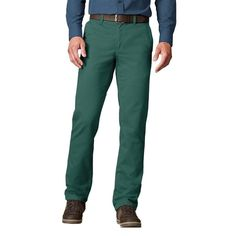 Men's SONOMA Goods for Life™ Twill Straight-Fit Flat-Front Pants, Size: 40X29, Blue