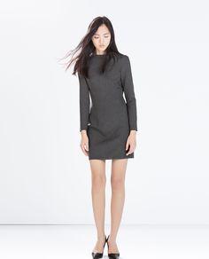 ZARA - WOMAN - SEAMED BOAT NECK DRESS