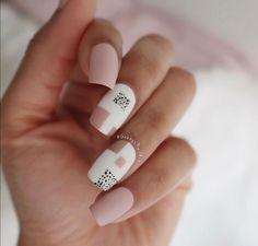 Cute Acrylic Nails, Cute Nails, Pretty Nails, Square Nail Designs, Acrylic Nail Designs, Cute Nail Art Designs, Pink Nails, Gel Nails, Color Block Nails