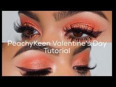 Amrezy's makeup tutorial using The Kylie Royal Peach Palette and The Bronze Palette. Coral Eyeshadow, Best Eyeshadow, Eyeshadow Looks, Peach Palette Looks, Bronze Palette, Beauty Makeup, Hair Beauty, Brown Skin