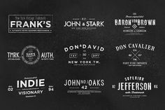 Vintage Labels & Logos Vol.6 by Zeppelin Graphics on Creative Market