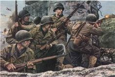 """""""First at Normandy"""" - Don Stivers Military Art, Military History, Army Drawing, History Tattoos, Military Drawings, D Day, Us Army, World War Two, Wwii"""