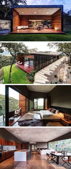 GG House by Elias Rizo Arquitectos in Tapalpa, Mexico - Container house 3d Building Design, Building A House, Future House, My House, Casas Containers, Container House Design, Modern House Design, Modern Contemporary House, Interior Architecture