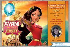 Princess Elena of Avalor Birthday Invitation - Disney Elena of Avalor Inspired Invitation