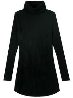 Vestido cuello alto manga larga-(Sheinside)