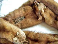 antique furs -Mink Stoles