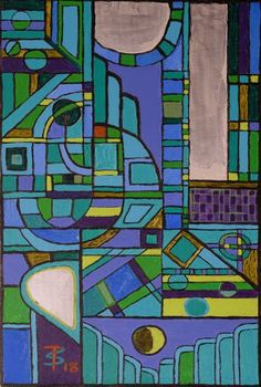 Lunar Cityscape Abstract (Painting No.