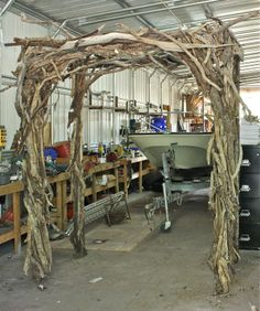 Wood Wedding Trellis | Connecting Pieces: The Wedding - Driftwood Arbor