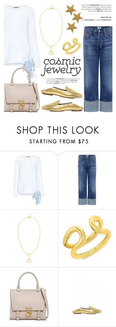 """""""Cosmic Jewelry"""" by ifchic ❤ liked on Polyvore featuring N°21, Citizens of Humanity, Maria Black, Giles & Brother, 10 Crosby Derek Lam, TIBI, contestentry, ifchic and cosmicjewelry"""