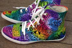 Zentangle sneakers shoes sneakers zentangle door ArtworksEclectic