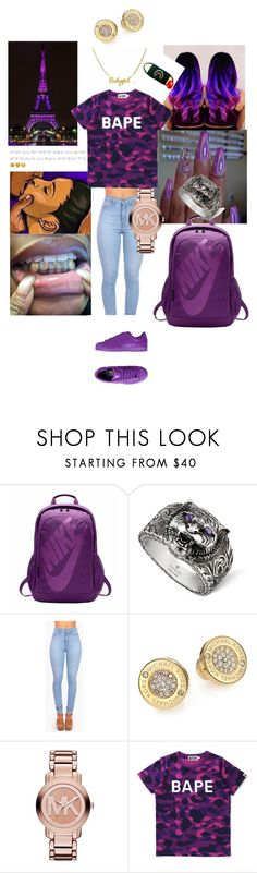 """""""shut up and suck"""" by isa03 ❤ liked on Polyvore featuring NIKE, Gucci, Vibrant, Michael Kors, adidas Originals and A BATHING APE"""