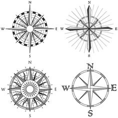 Tattoo Compass Design Ideas Tatoo New Ideas Compass Tattoo Meaning, Compass Tattoo Design, Pirate Compass Tattoo, Trendy Tattoos, Cool Tattoos, Tatoos, White Tattoos, Small Tattoos, Sextant Tattoo