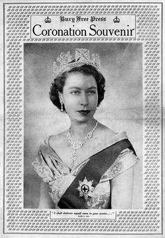 Bury Free Press Coronation Souvenir Front Page - 2nd June 1953 #DiamondJubilee