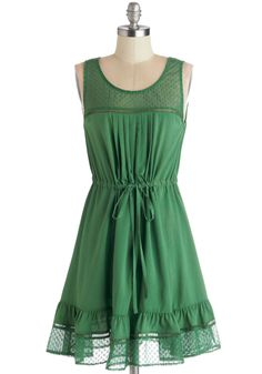 Clover and Over Dress. While you have a bevy of other beautiful dresses, you find yourself reaching for this clover-green dress over and over again! Fabulous Dresses, Unique Dresses, Cute Dresses, Cute Outfits, Ladies Dresses, Beautiful Dresses, Mod Dress, Dress Skirt, Dress Up