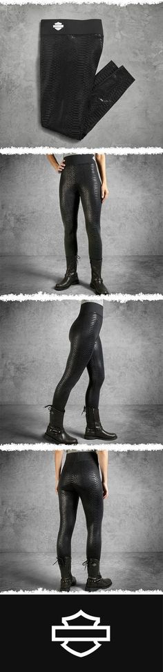 There's more to these pretties than a great fit and wild python print. | Harley-Davidson Women's Performance Infrared Legging