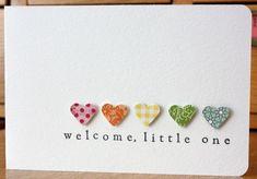 Heart baby card