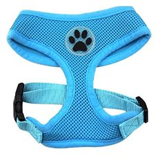 BINGPET BB5001 Soft Mesh Dog Harness Pet Walking Vest Puppy Padded Harnesses Adjustable , Blue Extra Small ** Click image for more details.