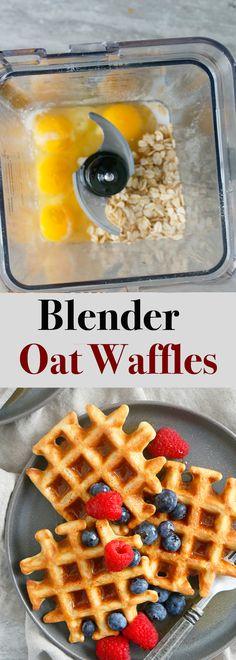 Healthy Waffles, Gluten Free Waffles, Healthy Breakfast Recipes, Healthy Baking, Healthy Waffle Recipes, Healthy Blender Recipes, Smoothie Recipes, Easy Waffle Recipe, Waffle Maker Recipes