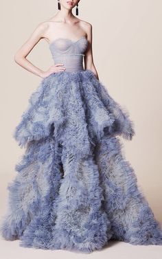 Tiered Ball Gown by MARCHESA for Preorder on Moda Operandi