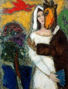 Midsummer Night's Dream, 1939, Marc Chagall Size: 117.1x88.6 cm Medium: oil on canvas
