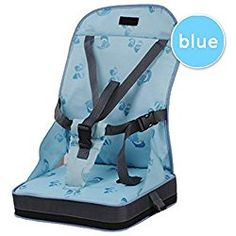 Washable Dismountable Soft Sponge Travel Storage Chairs Toddler Baby Dining Chair Blue//Dark Coffee//Silver Infant Highten Pad Booster Seat Increasing with Straps Harness Cushion Kid Seat