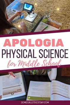 Foster independent learning and note taking skills with Apologia Physical Science 3rd edition for homeschool middle school science {review} Homeschool Science Curriculum, Homeschooling Resources, Science Classroom, School Resources, Apologia Physical Science, Science Fun, Science Lessons, School Science Projects, Christian School
