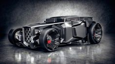 Lamborghini Rat Rod The slightly unusual car you see here is the answer to a debate that was had between Pawel Wisniewski and his friend Jans Slapins, they had both been watching a drag race between a Lamborghini and a Rat Rod and found that they loved and hated different elements to both designs.