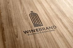 WineBrand Logo Template by MH Creation on @creativemarket