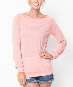 Another great find on #zulily! Coral Boatneck Pullover - Women by Caralase #zulilyfinds